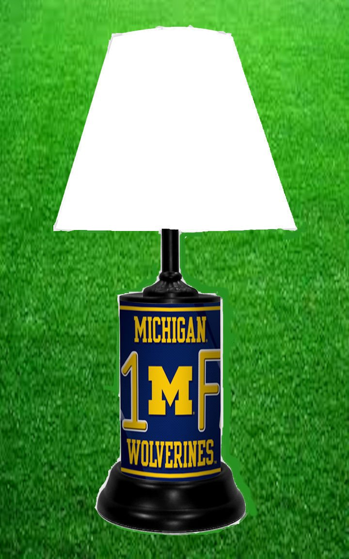 MICHIGAN WOLVERINES NCAA LAMP - BY TAGZ SPORTS