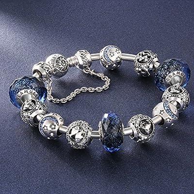 Glamulet Jewelry 925 Sterling Silver Horoscope Zodiac Birthstone Bead Charm Fits Pandora Bracelet by Glamulet