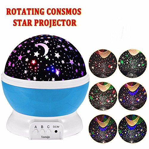Cheap YOMIJN Child Night Light 8 Modes Moon Star Projector 360 Degree Rotation Night Lamp Best Christmas Birthday Gifts for Child Baby Girlfriend (Blue)