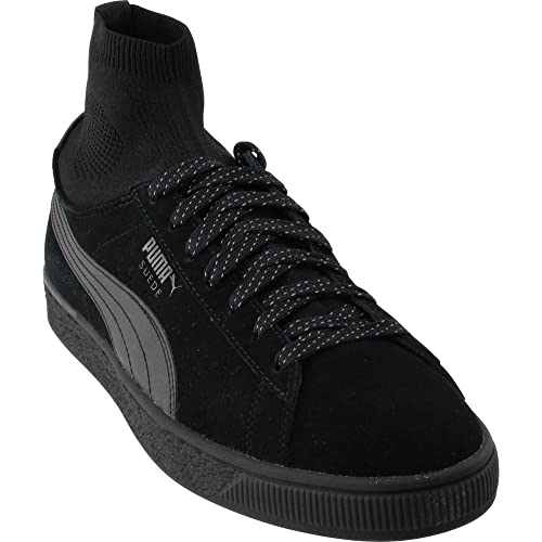 | PUMA Men's Suede Classic Sock Black Black 10 D