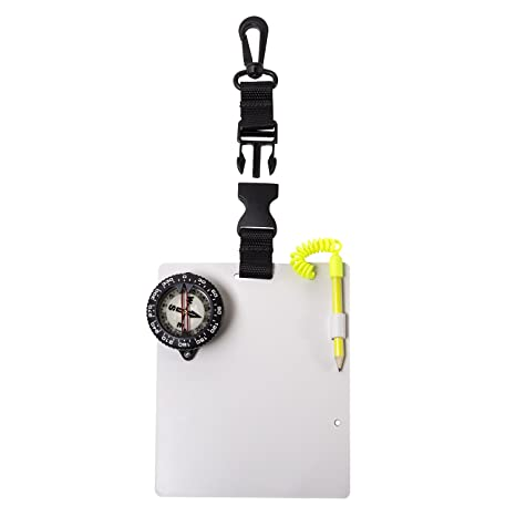 Trident Large Glow in the Dark Dive Compass With Retractor Cable Trigger Clip