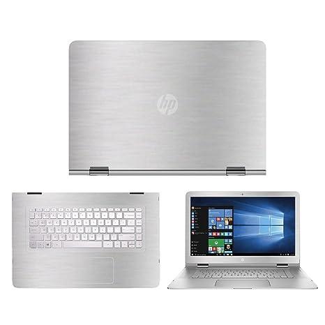 aea396ead78c Amazon.com: Silver Aluminum skin decal wrap skin Case for HP Spectre ...