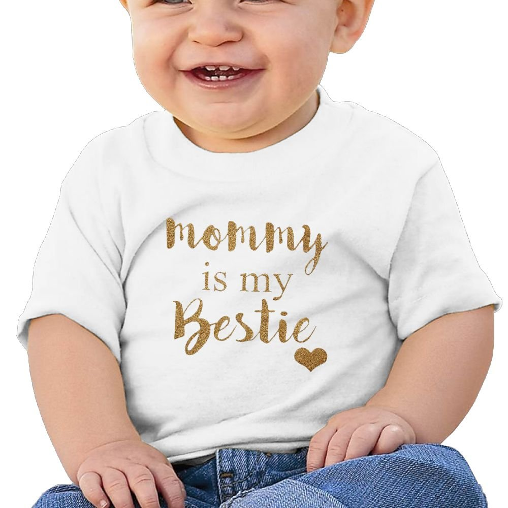 REBELN Mommy is My Bestie Cotton Short Sleeve T Shirts for Baby Toddler Infant