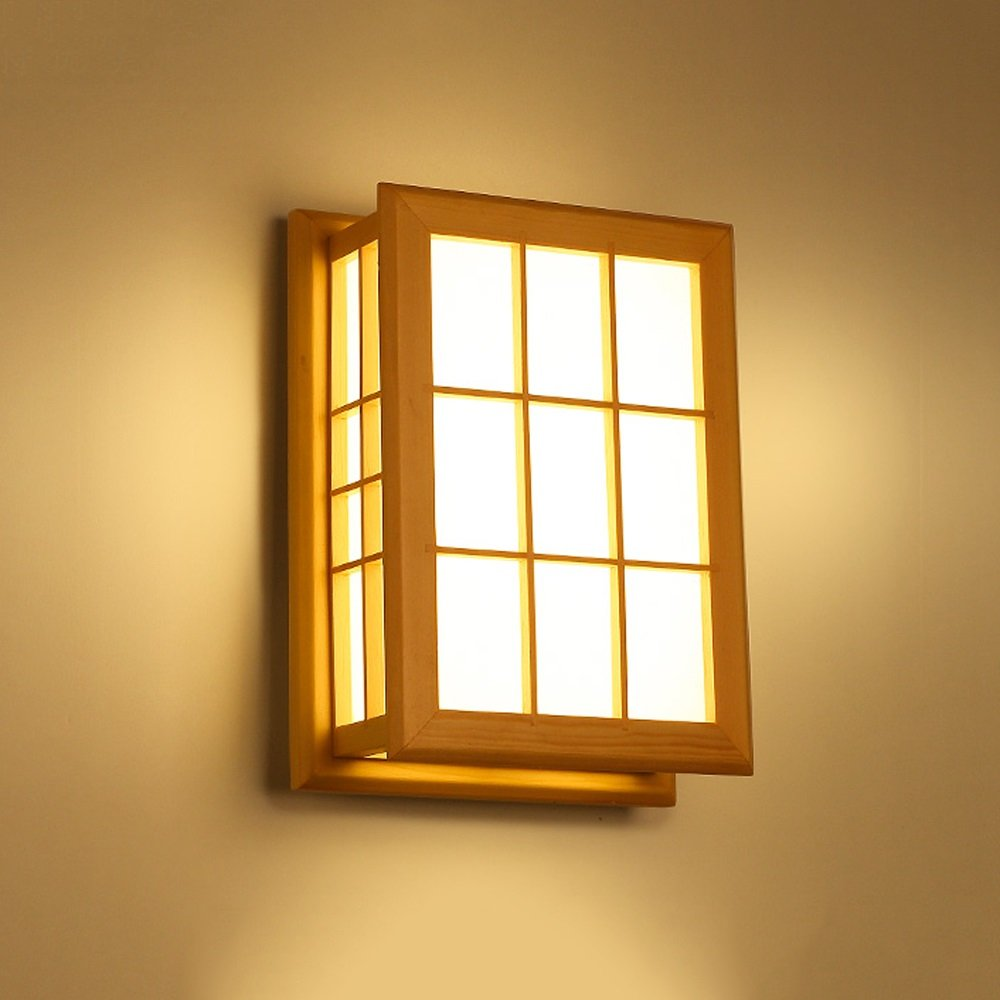 Solid Wood Wall Lamp Japanese-style/ Northern Europe LED Modern ...
