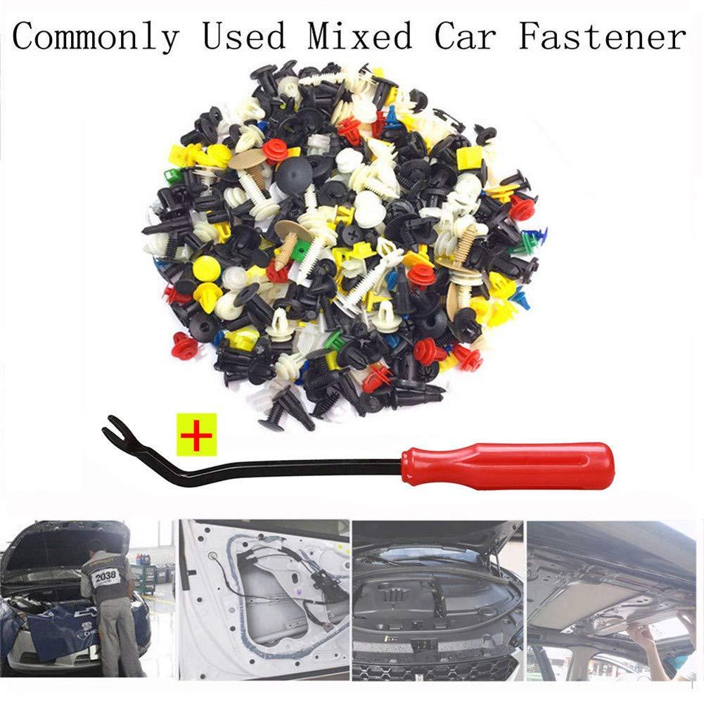 kaakaeu 200Pcs Car Bumper Fender Trim Door Panel Fastener Clips Rivet /& Removal Screwdriver Tools Set,Auto Vehicle Maintenance Common Tools Kit