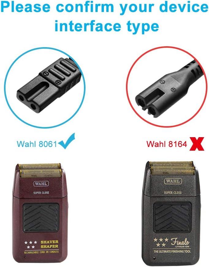 IBERLS - Adaptador de Cable de alimentación de 2 V para Wahl Shaver eléctrico Todo en uno Cortador de Pelo eléctrico ...
