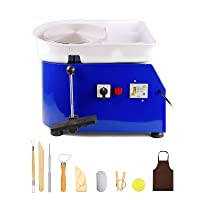 Tekchic Pottery Wheel Machine 350W Electric Pottery DIY Clay Tool with Foot Pedal - Blue