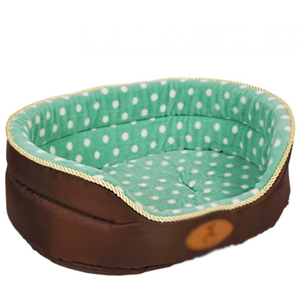 Ordinary Section 80cm Ordinary Section 80cm Premium Dog's Bed, can be Separated Cleaning PP Cotton Warm Four Seasons Common cave Green (color   Ordinary Section, Size   80cm)