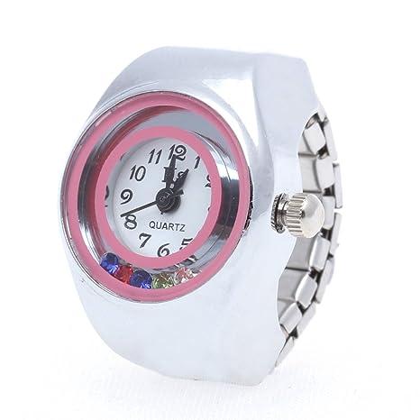 Easy Provider® 20 mm Redondo Anillo Reloj Finger Reloj Reloj Reloj Anillo Plata Top