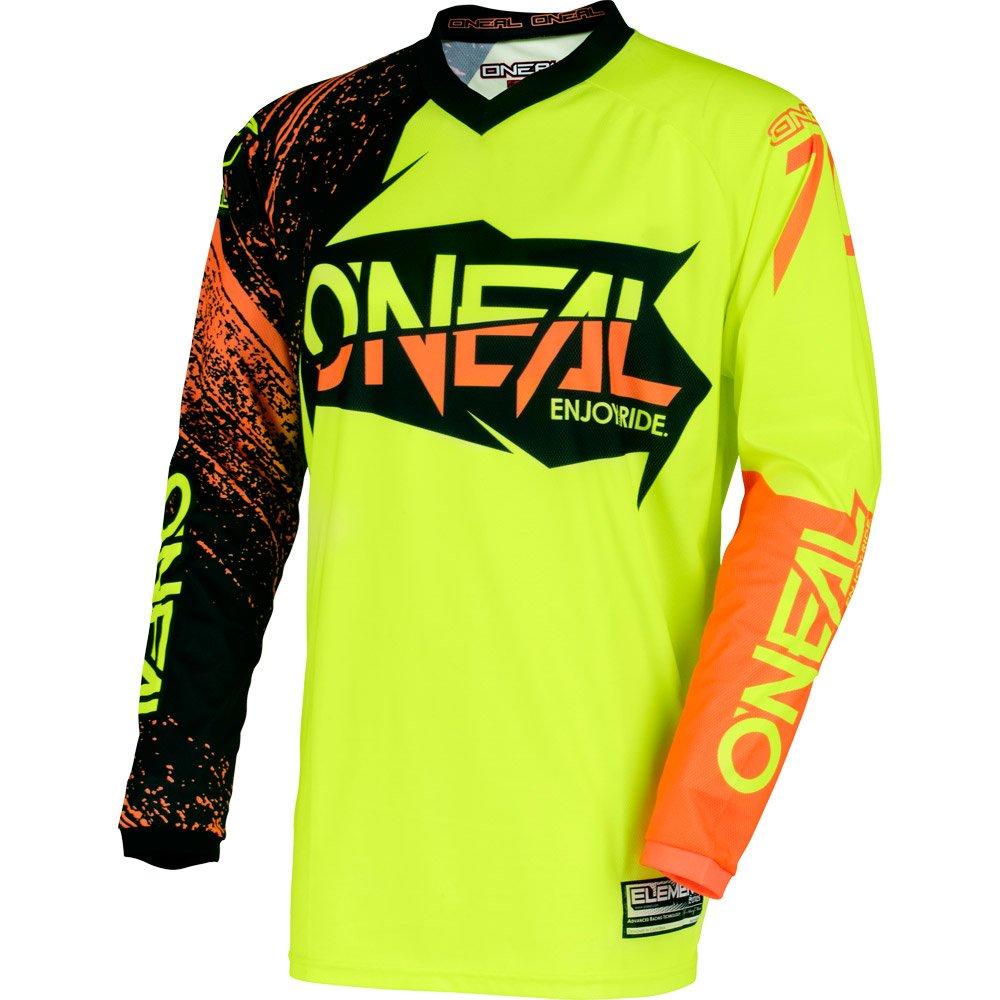O'Neal 0008-913 Mens Element Burnout Jersey (Black/Hi-Viz/Orange, Medium)