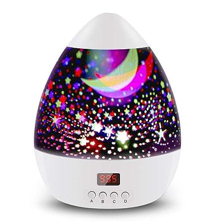 LA-PIN Proyector de luz de estrella de 360 grados giratorio LED ...