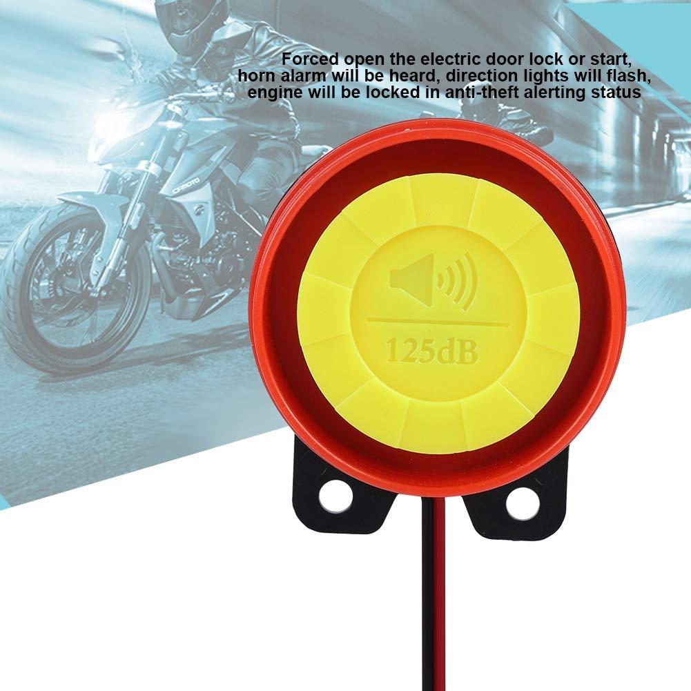 12V Electric Bike Anti-theft Alarm System Streetcar Security Alarm Remote Control Engine 125dB