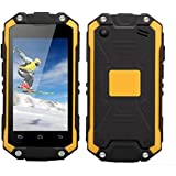"Hipipooo J5+ Waterproof Dustproof Shakeproof Mini Rest-Pocket 2.45"" Smartphone With Android 5.1 3G Unlocked Mobile Phone MT6580M Quad-Core,Dual SIM Card Slot(Yellow)"