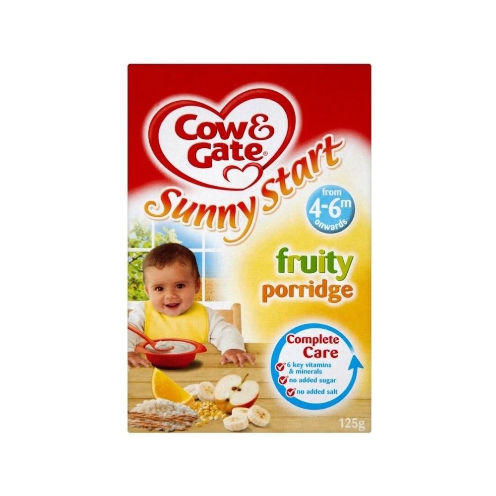 Cow & Gate Sunny Start Fruity Porridge 4-6mth+ (125g)