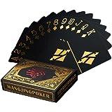 Wasserdichtes Pokerkarten schwarze Spielkarten Profi Poker Karte Spielkarte playing cards aus Plastik Top Qualität Plastic Poker für Ihr Poker Vergnügen