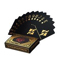Étanche Cartes de poker noire cartes à jouer poker jeu de cartes Playing Cards de Carte En Plastique Top Qualité professionnelle Plastic Poker pour votre plaisir Poker, or …