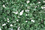 Reflective Fire Pit Fire Glass in Green, 10 Pounds