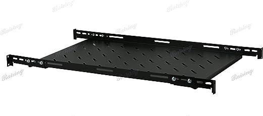 "Fixed Rack Server Shelf 1U 19'' Shelves 4 Post Rack Mount Adjustable Deep For server Network rack (21.5""depth)"
