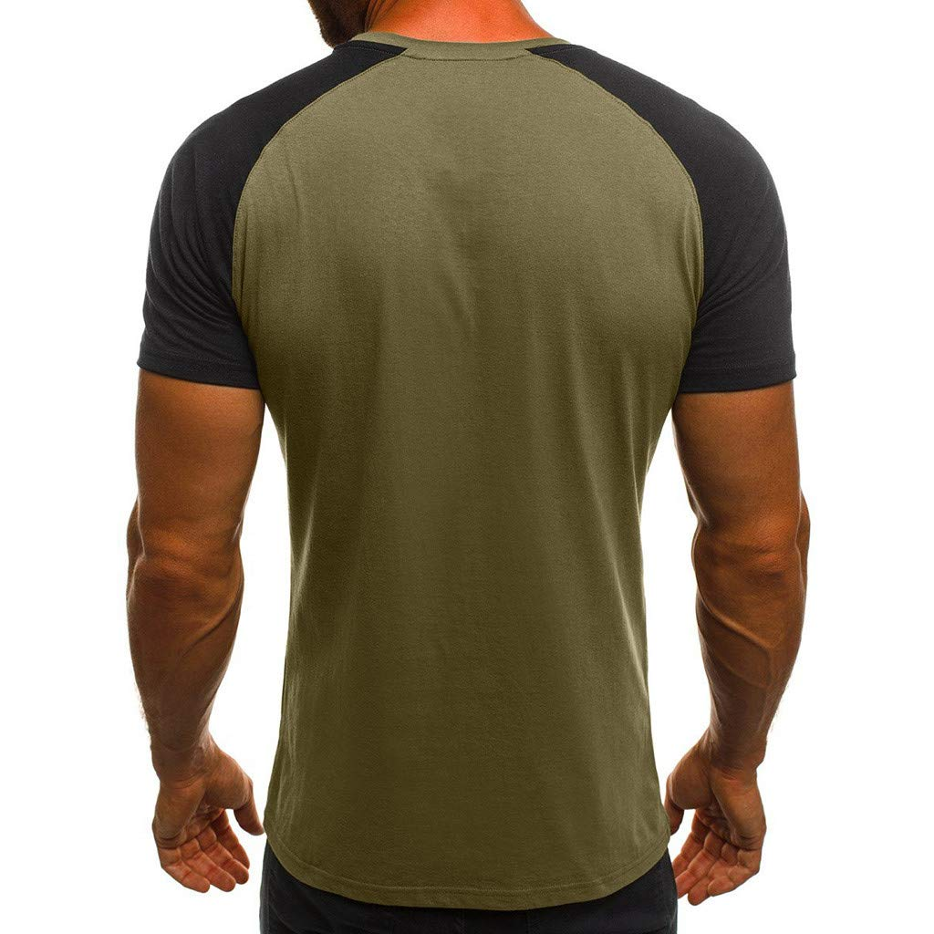 SSYUNO Fashion Mens Casual Slim Camouflage Printed Short Sleeve T Shirt Top Blouse,Big and Tall Sizes