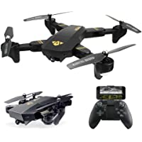 Arris Quadcopter Drone Camera Live Video, Foldable Drone 2.4G WiFi FPV Pocket Quadcopter RTF 720P 2MP HD Camera - Altitude Hold/Headless / One Key Take Off/Landing /APP Control / 3D Flip