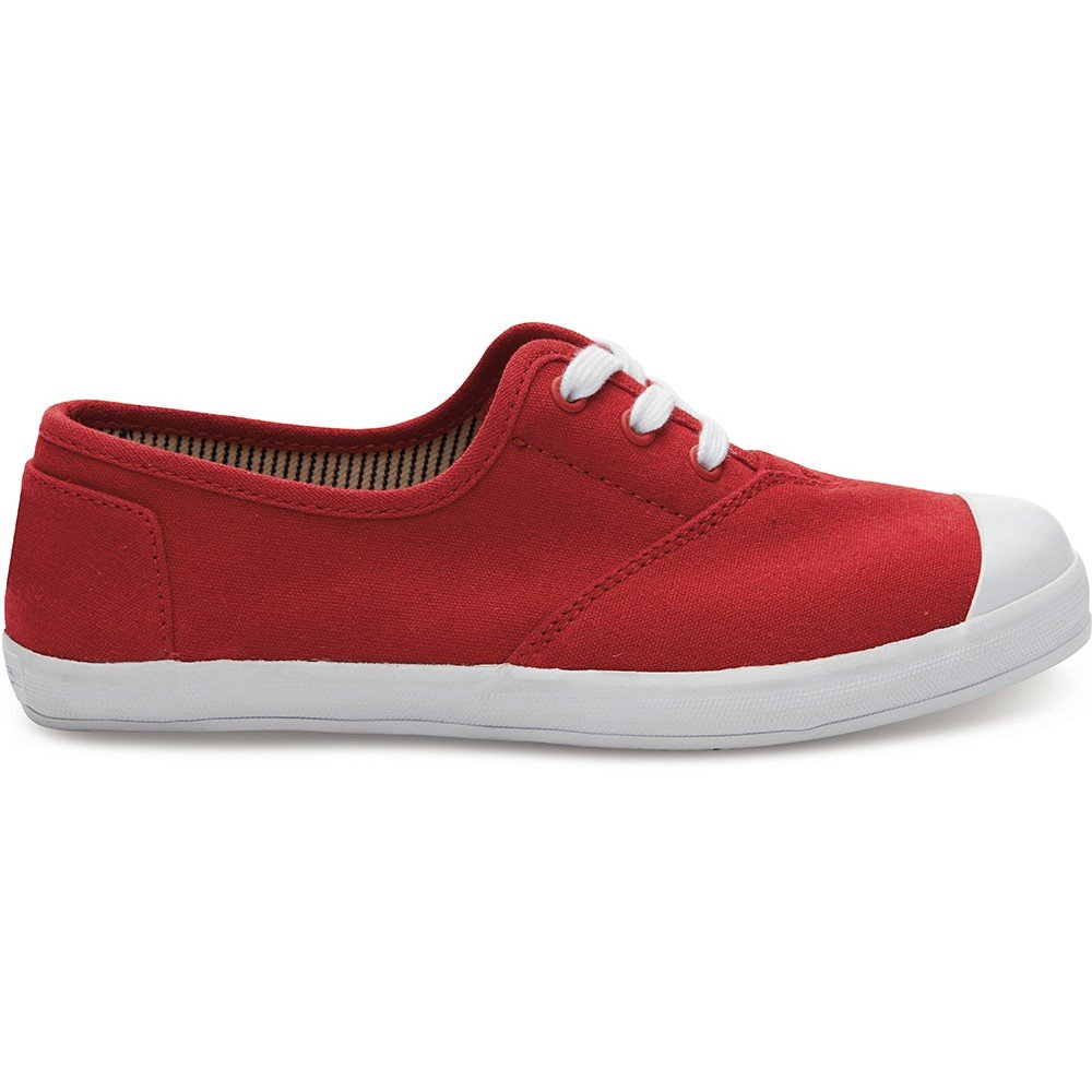TOMS Kids Unisex Zuma Sneaker (Little Kid/Big Kid) Red Canvas 2 Little Kid M