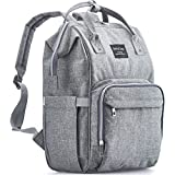 KiddyCare Diaper Bag Backpack - Multi-Function Waterproof Maternity Nappy Bags for Travel with Baby - Large Capacity, Durable and Stylish, Gray