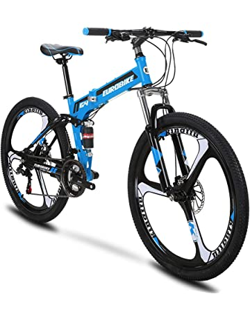 Extrbici G4 Mountain Bike 21 Frame Acero Velocidad 26 Pulgadas Ruedas Bicicleta Suspensión Plegable