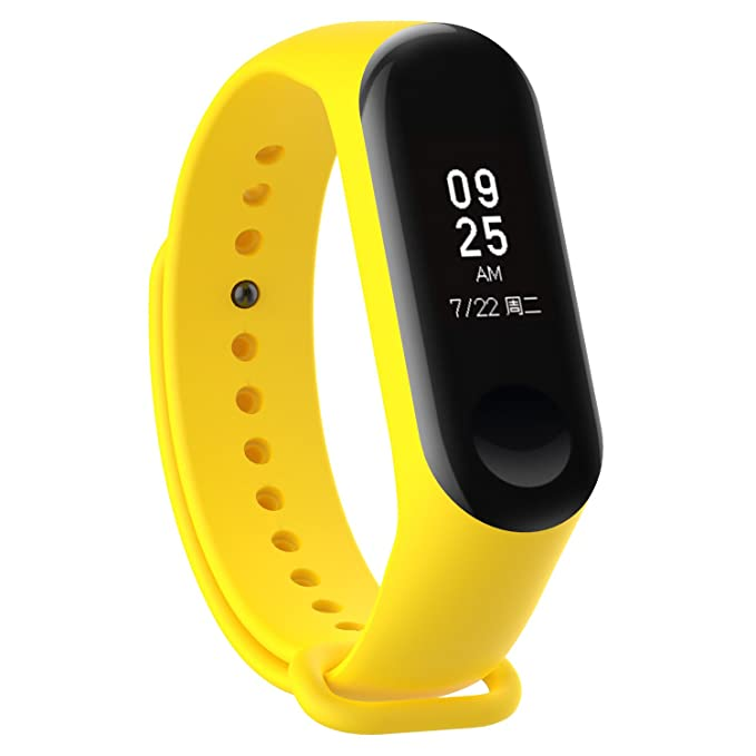 Amazon.com: XIHAMA Watch Strap for Xiaomi mi Band 3, Soft Silicone Replacement Band Fitness Sports Activity Bracelet Wristband with Clasp for Xiaomi Mi Band ...