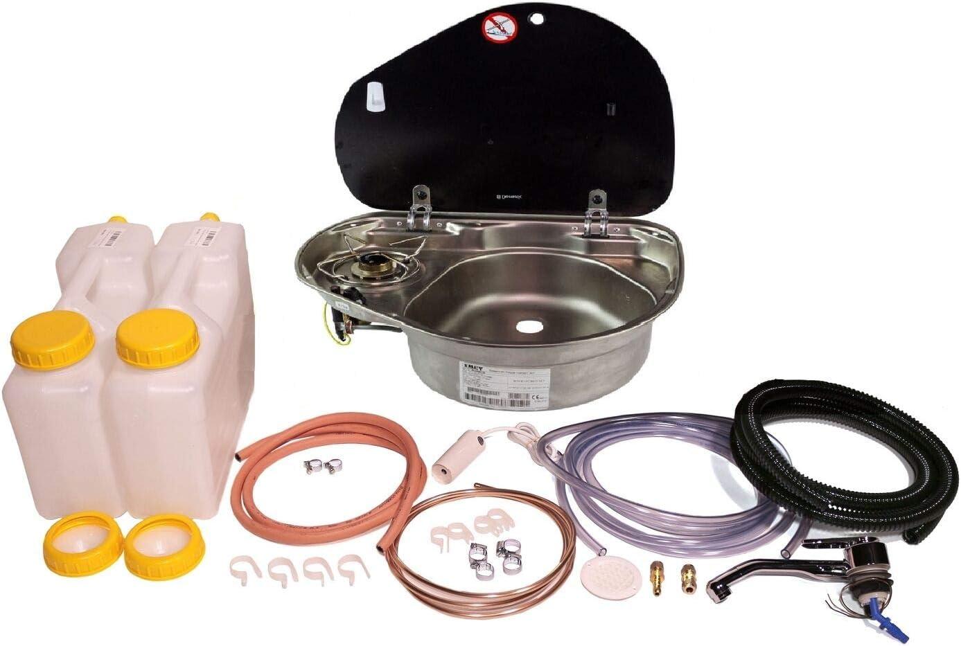 Dometic Smev 8821 - Fregadero de cocina R/H (incluye kit de instalación de grifo, conversión de furgoneta