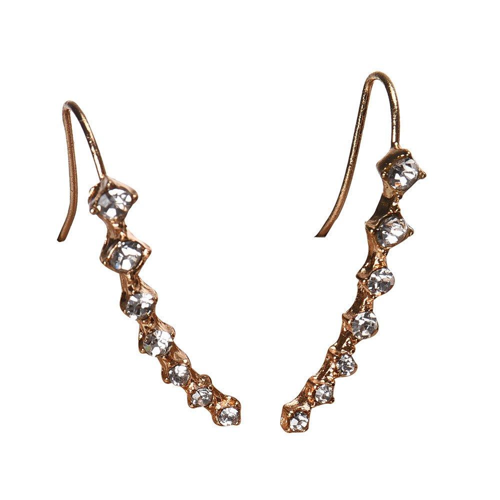 ✔ Hypothesis_X ☎ Women Ear Stud Earrings,1Pair Rhinestone Crystal Earrings Ear Hook Stud Jewelry Gold Earings