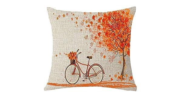 Amazon.com: Freeby Happy Autumn Fall - Funda de cojín para ...