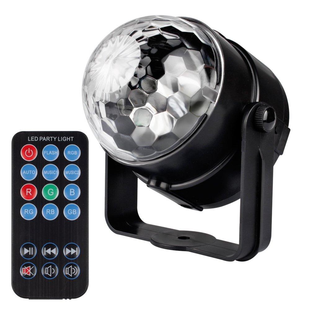 amazon com led party light airsspu 7 color sound activated disco