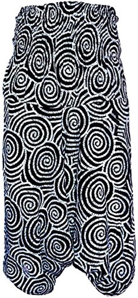ALIHAREMHOUSE Regístrate Imprimir Smocked Cintura elástico del Tobillo Fino algodón Harem Pantalón para Ejercicio nhyi9: Amazon.es: Ropa y accesorios