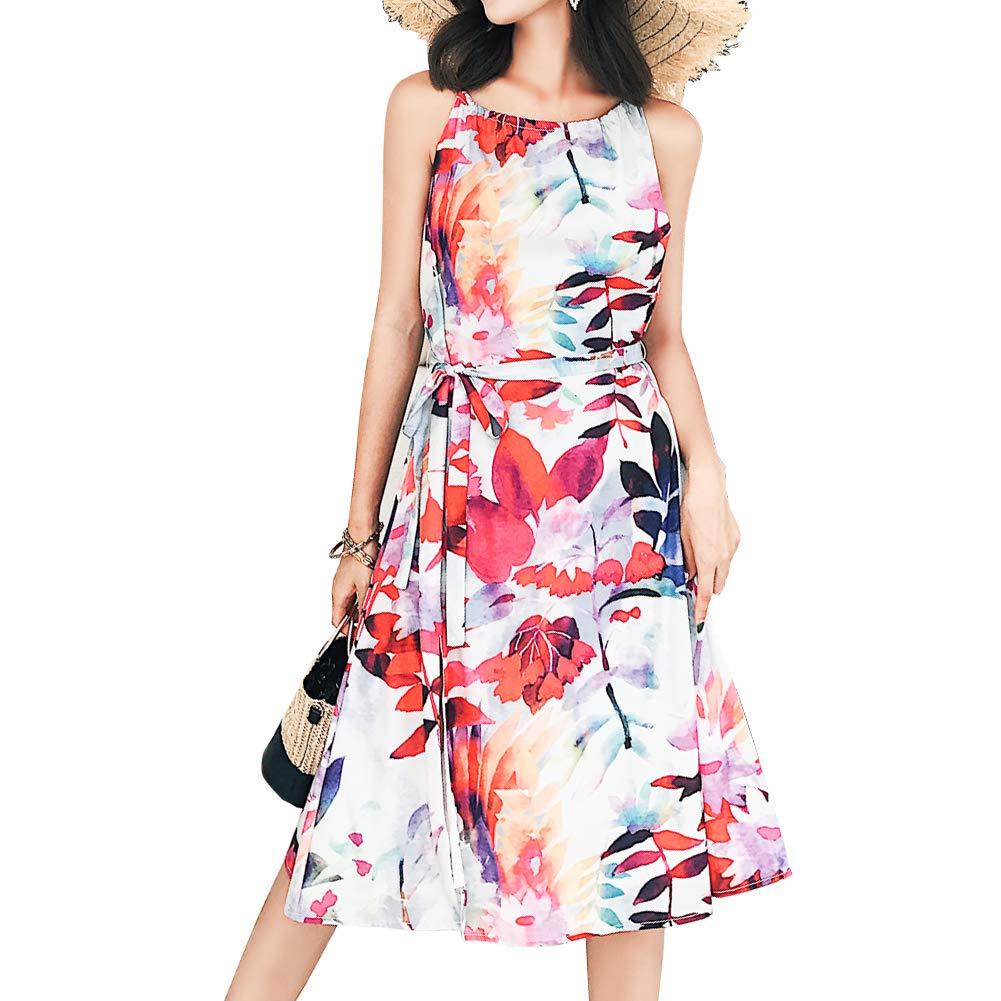 Hoildaylady Comfortable Summer Dress Slim Dress