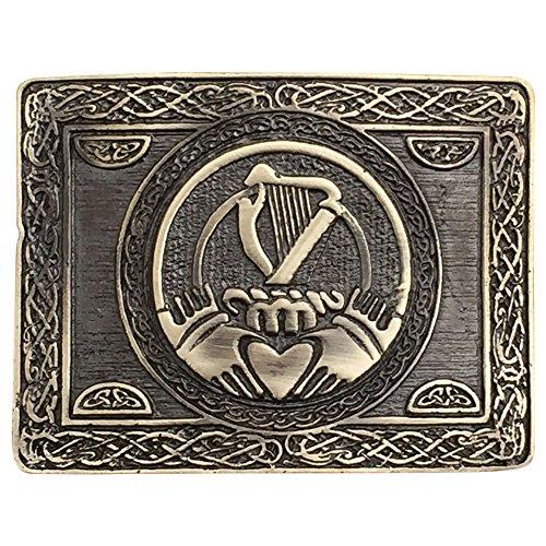 Irish Traditional Harp Claddagh Kilt Belt Buckle Antique Finish Irish Harp Buckle - Antique Finish Belt Buckle