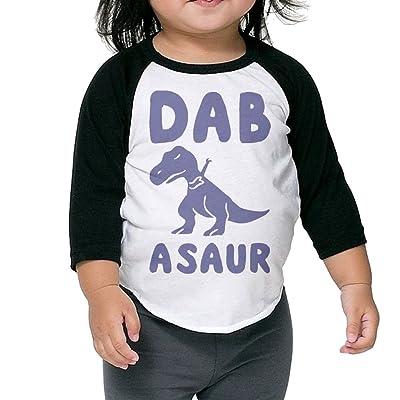 SH-rong Dab Asaur Kids 3/4 Sleeve Tshirt