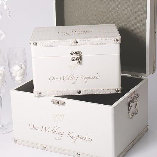 Wedding and Party Store - Juego de 2 cajas para guardar recuerdos ...