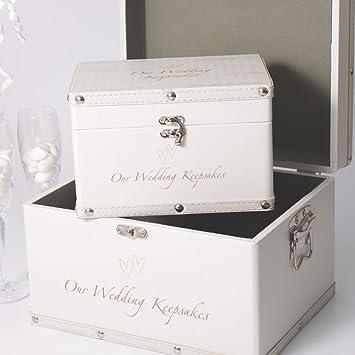 Wedding Keepsake Trunks Set Of 2
