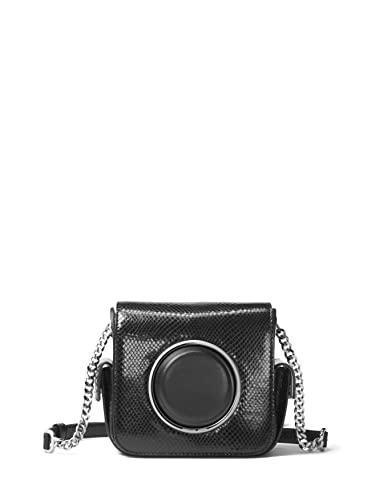 ac9ae1276d2a MICHAEL Michael Kors Scout Metallic Embossed Leather Camera Bag - Black:  Handbags: Amazon.com