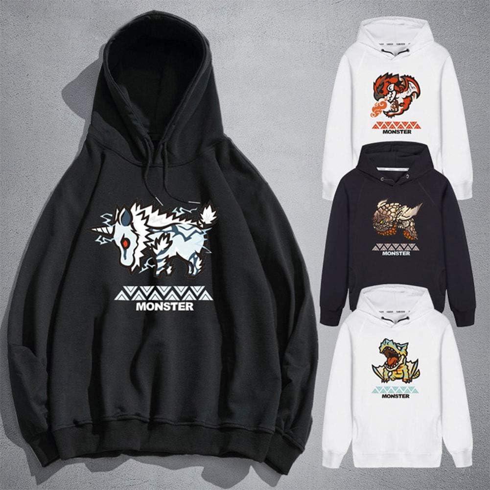 LGXXX Felpa con Cappuccio Monster Hunter,Monster Hunter World Pullover Cosover Felpa Sufelpa per Studenti Amanti del Gioco Regali Teen Teen G