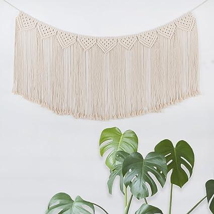 Amazon.com: TIMEYARD Macrame Woven Wall Hanging Fringe Garland ...