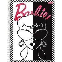 Caderno Espiral Capa Dura Universitário Barbie Glamour, Foroni 10 Matérias 200 FolhasCapa 01