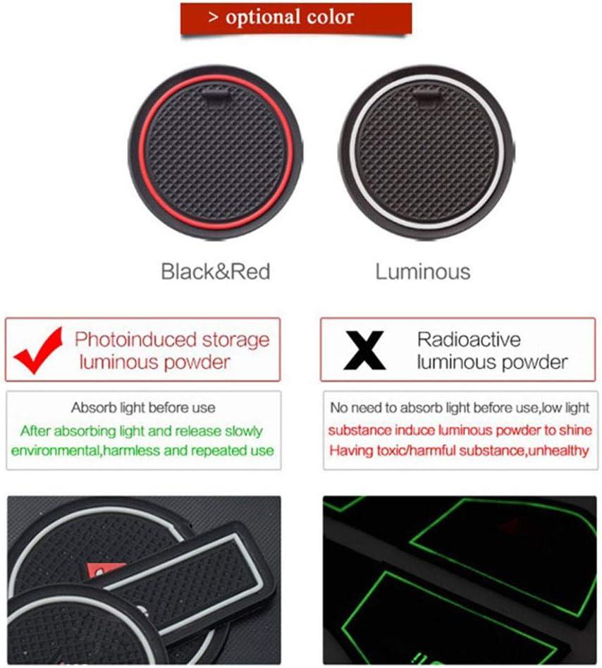 QQKLP Rubber Mat Non-Slip Interior Cup Pad Door Groove Mat Fit for Mazda CX-7 CX7 CX 7 Car Door Mat Auto Accessories Styling