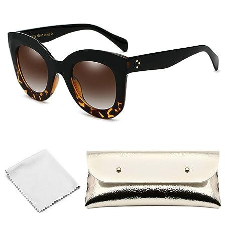 f2c1706544f8 AOLVO Round Sunglasses Cat Eye Sunglasses