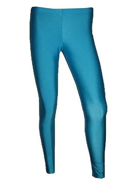 65fed70cf7550 Amazon.com: Womens Neon UV Sky Blue Leggings: Clothing