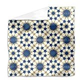 Star Mosaic Alhambra Wall Flat Sheet: King Luxury Microfiber, Soft, Breathable