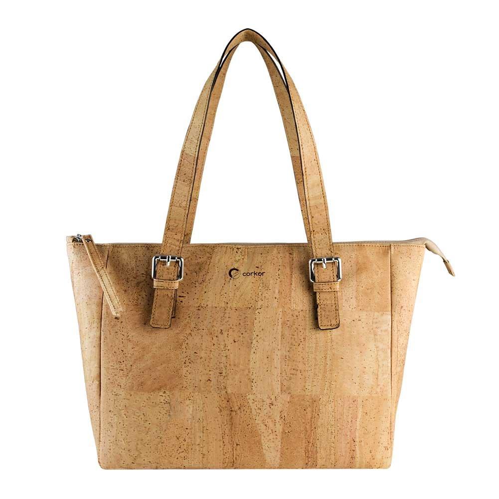 Corkor Vegan Handbag Satchel Cork Purse Top Handle Women Peta Approved Natural by Corkor