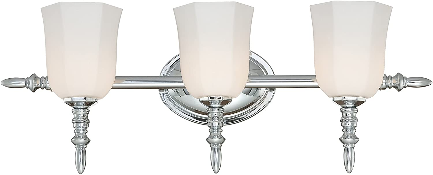 Eurofase 20376-031 Llody 3-Light Bathbar, Chrome