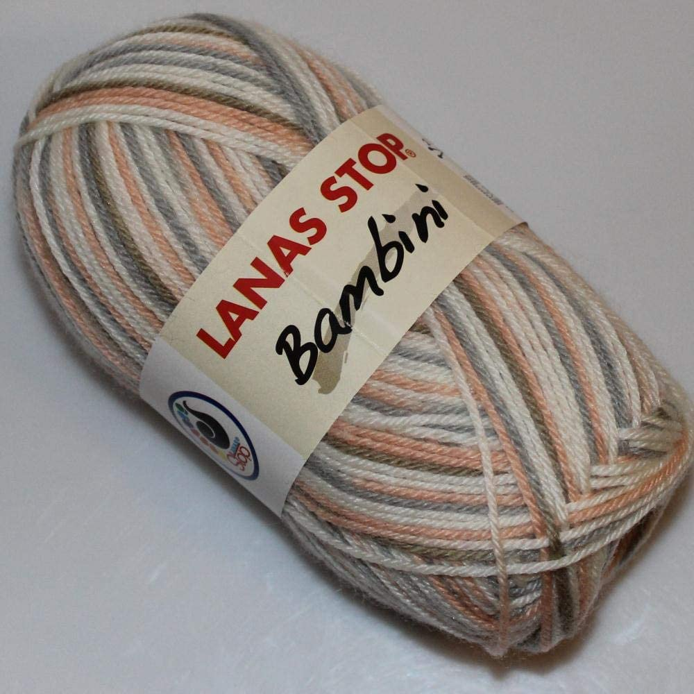 Lanas Stop Bambini Estampado Ovillo de Color Blanco Cod. 200