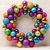 Christmas Colorful Balls Wreath Door Wall Ornament Creative Garland Home Wedding Decoration (Colorful Ball Wreath)